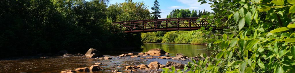 Superior Hiking Trail next to the Beaver River in Beaver Bay, North Shore MN