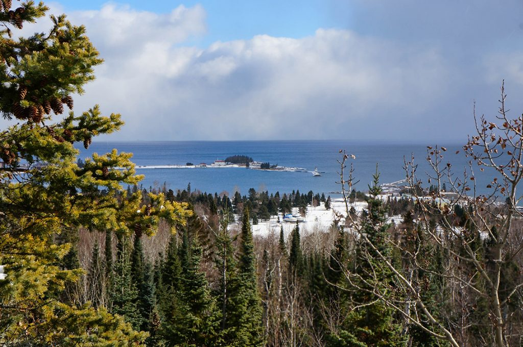 View from Sweethearts Bluff overlook, Grand Marais, MN