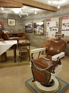 Barber chair from the original Stickney store.