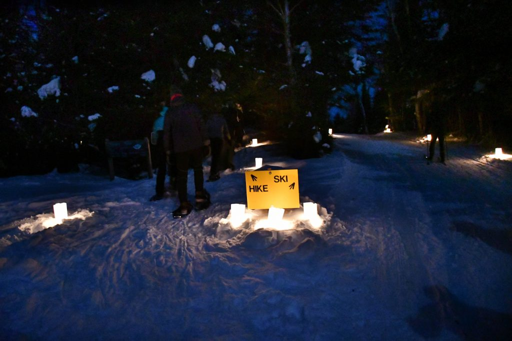 Candlelight Ski and Snowshoe, Oberg Mountain