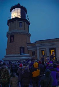Edmund Fitzgerald Memorial Beacon Lighting at Split Rock Lighthouse.