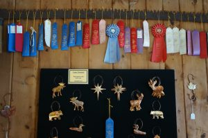 Some of the awards displayed inside the Sugar Shack