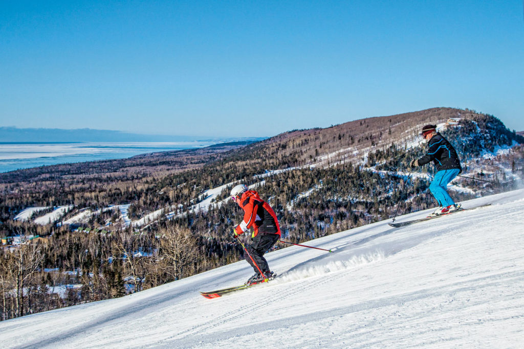 Skiing at Lutsen Mountains
