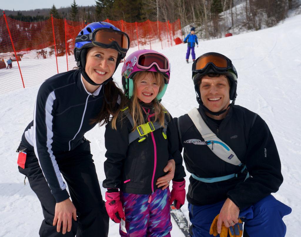 Family skiing at Lutsen Mountains