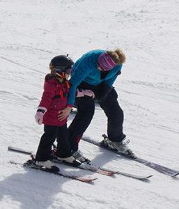 Learning to ski at Lutsen Mountains