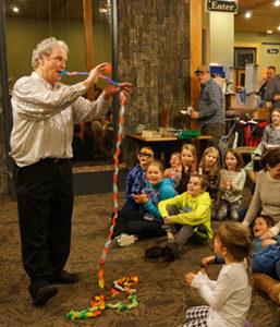Magic show at Lutsen Mountains Family Fun Night