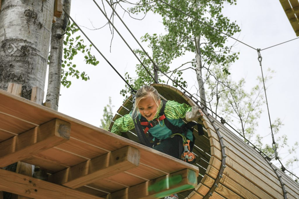 aerial obstacles at the North Shore Adventure Park