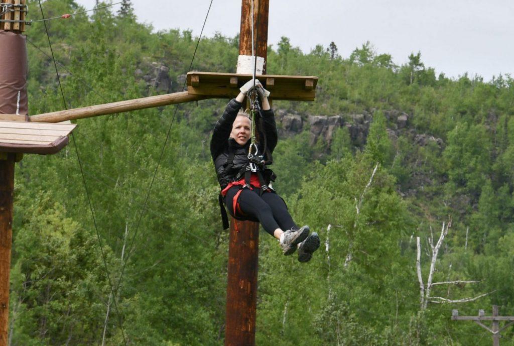 Zipline at the North Shore Adventure Park