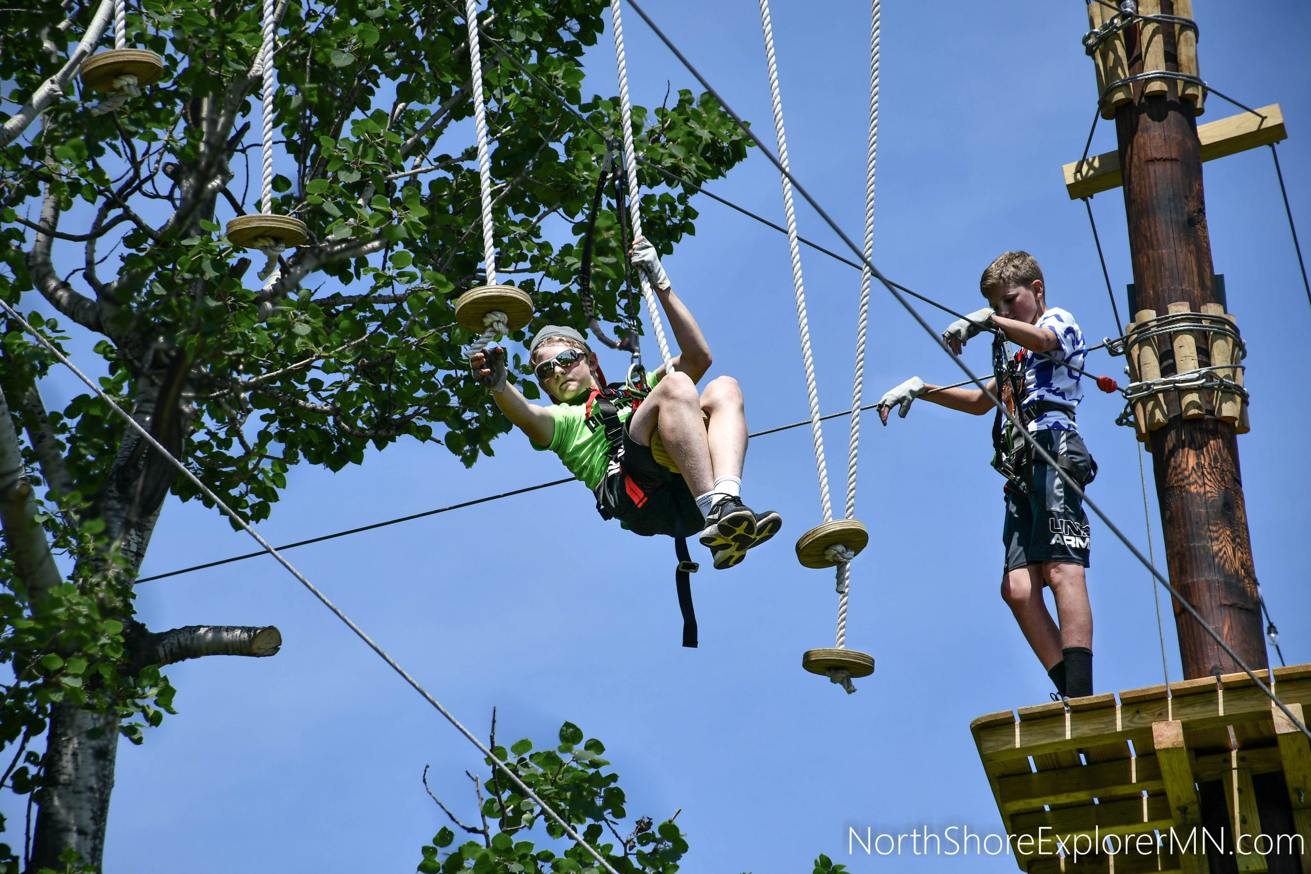 Conquer the bouncy flying rings!