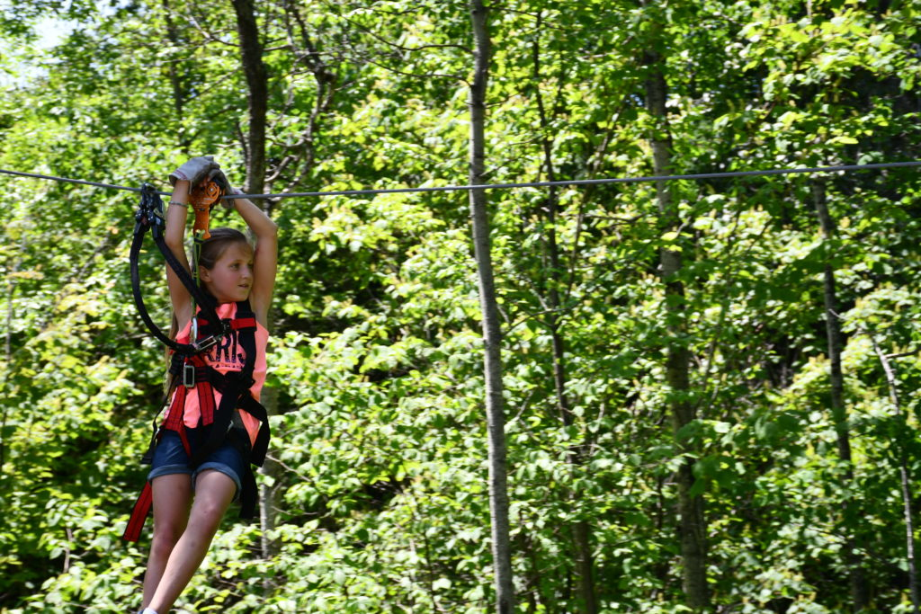 Zip line at North Shore Adventure Park