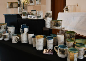 Lenore Rae Lampi pottery at the Hovland Arts Festival