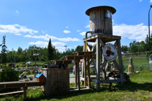 Prospecting tower at Putt n Pets, Grand Marais, MN