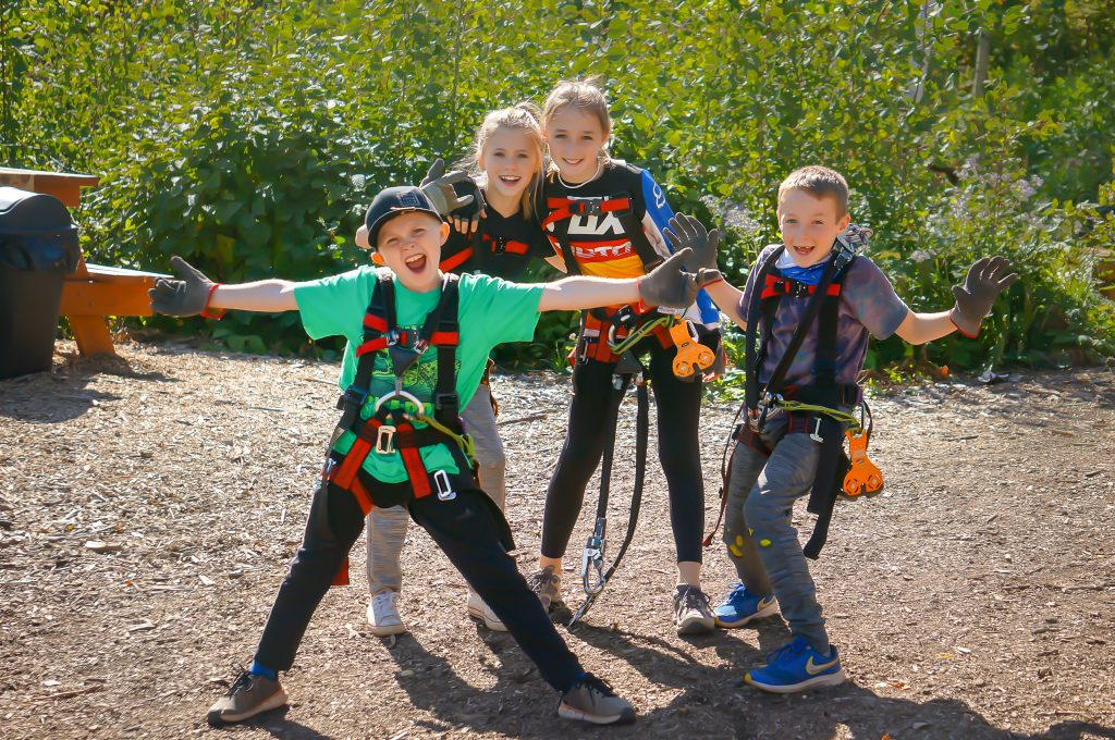 Kids at the North Shore Adventure Park