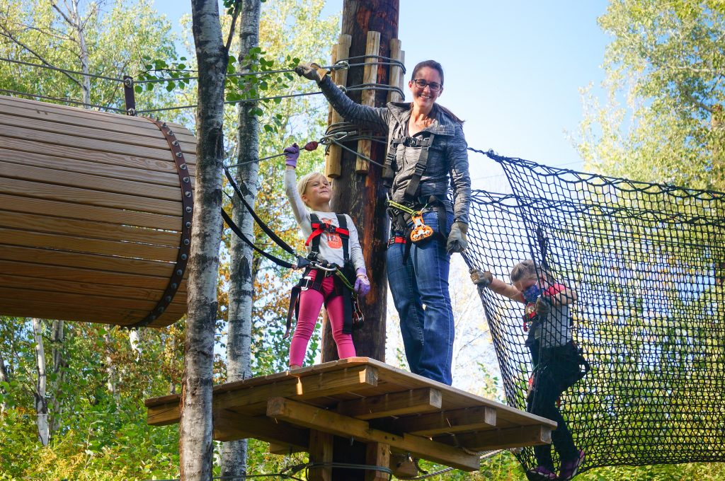 family at the North Shore Adventure Park