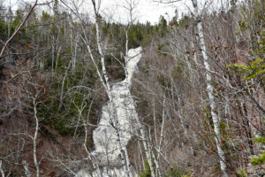View of Onion River Falls - spring.