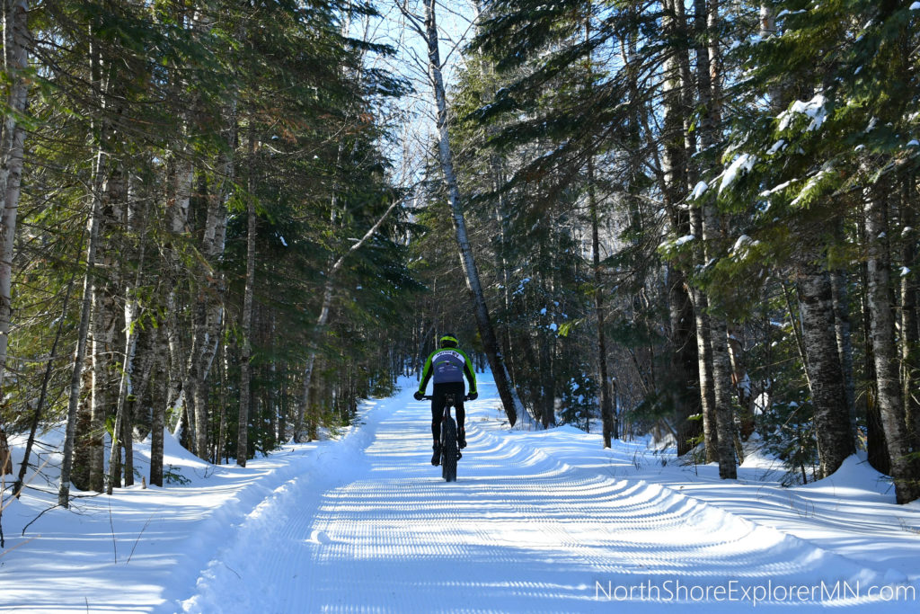 Fat biking on the North Shore, MN