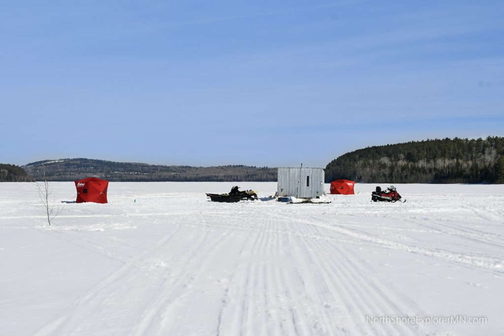 winter camping and ice fishing