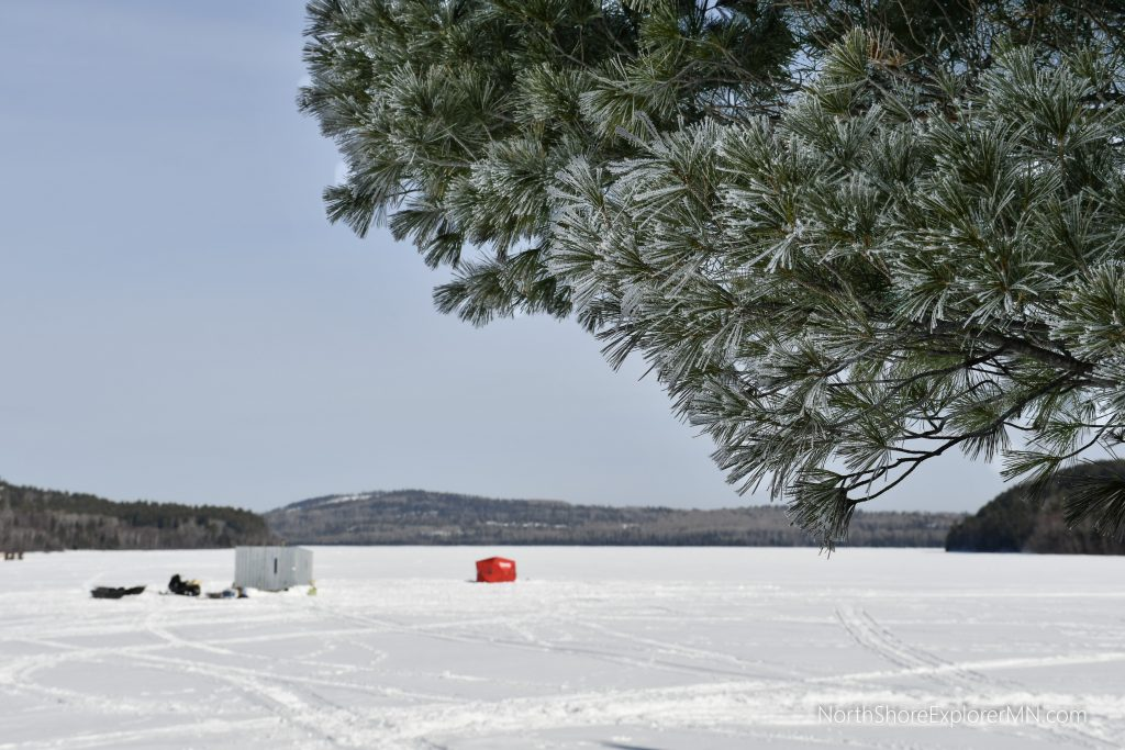 ice fishing and winter camping
