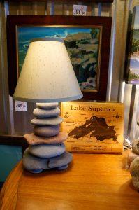 Lake Superior Rock Lamps at Joy & Co.