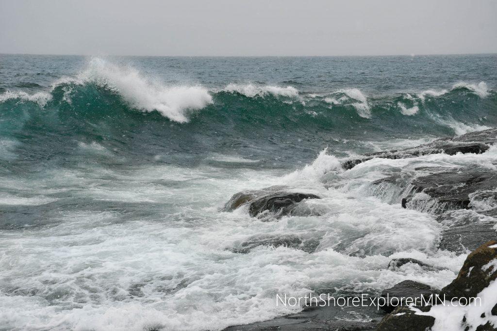 Lake Superior wave watching, Stoney Point, Duluth