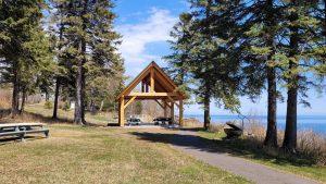 Tofte Park picnic area on Lake Superior