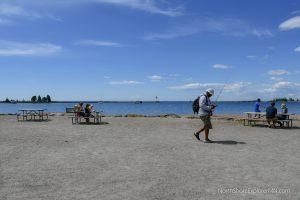 Picnic on the Grand Marais, MN harbor