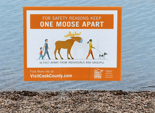 Visit Cook County, MN Stay One Moose Apart