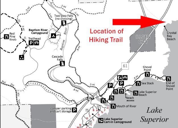 Tettegouche State Park map