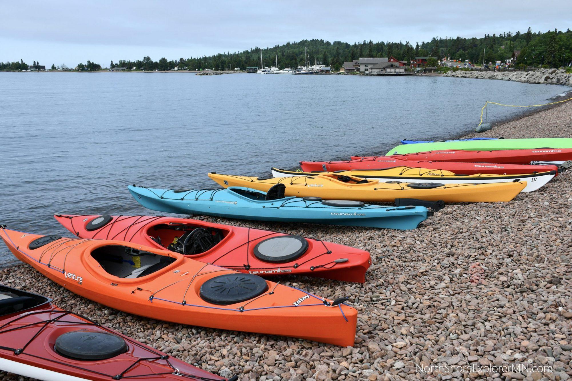 Kayak Demos at Stone Harbor Wilderness Supply, Grand Marais MN