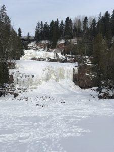 Gooseberry Falls, MN in winter