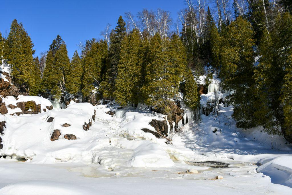 Cascade Falls at Tettegouche State Park, winter