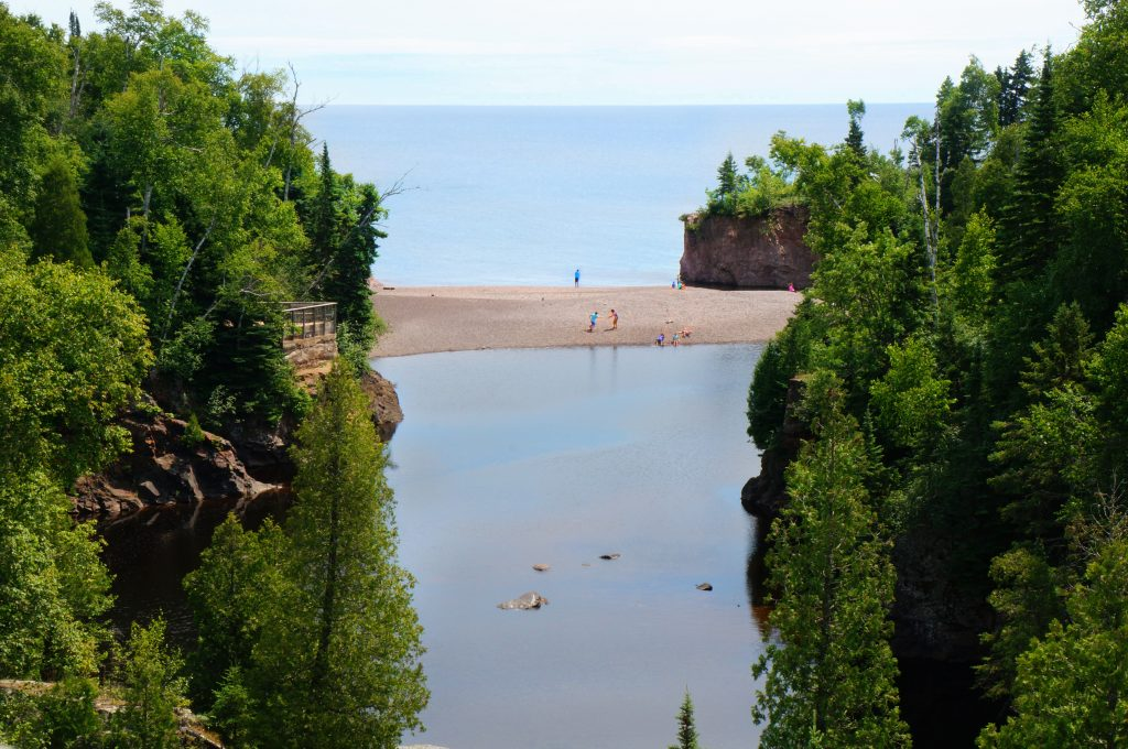 Mouth of the Baptism River at Tettegouche State Park