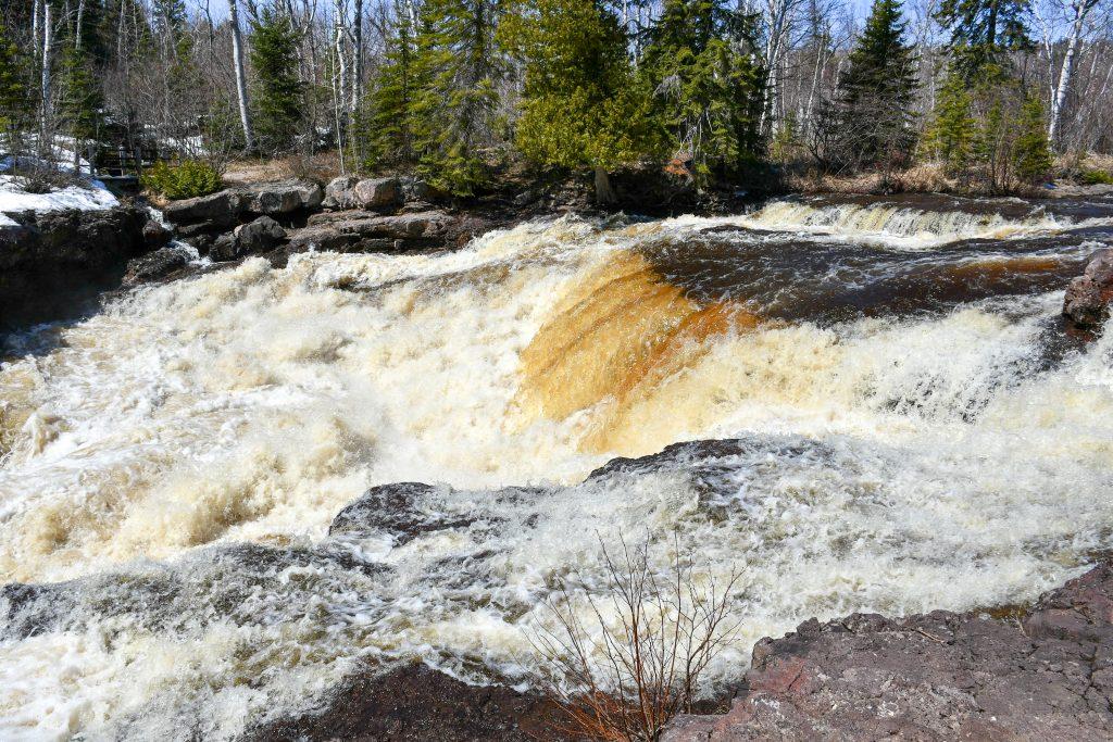 Upper falls at Temperance River, North Shore MN