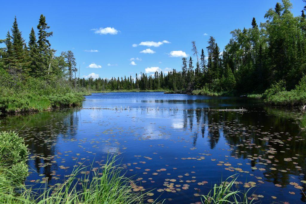 Beautiful lake on the Gunfilnt Trail