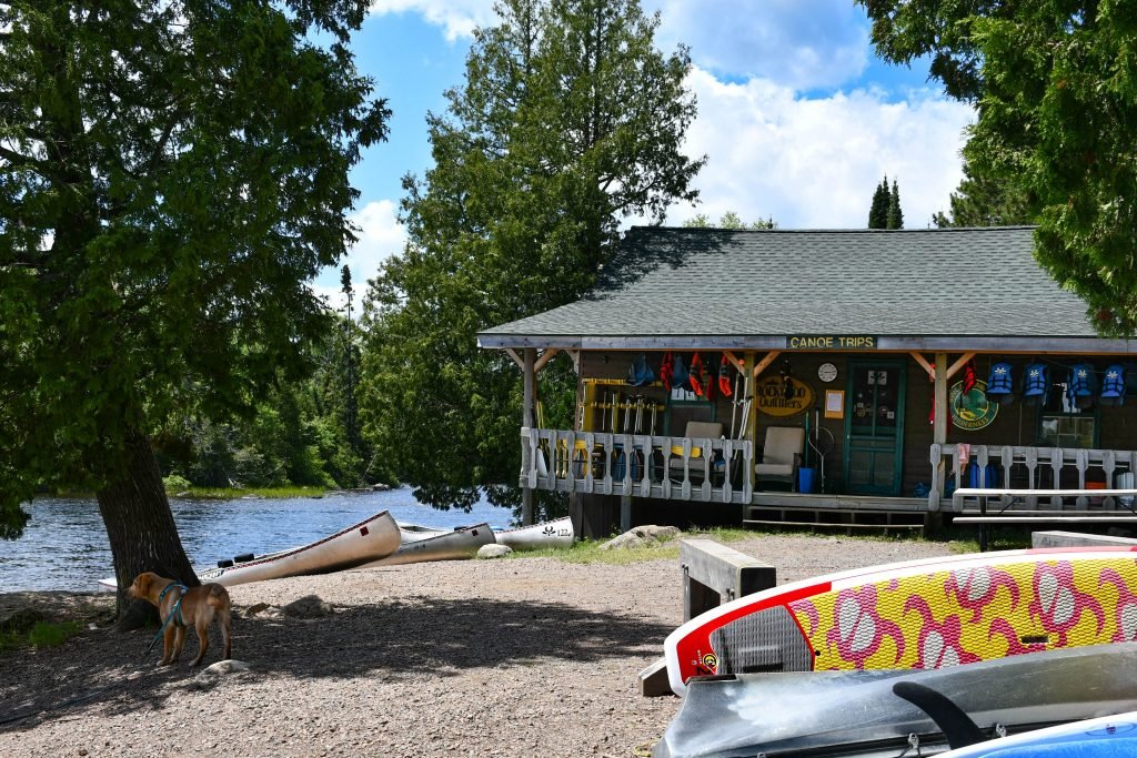 Canoe outfitter on the Gunflint Trail