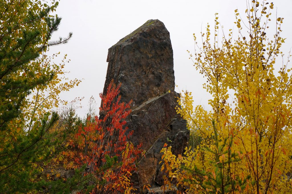 Magnetic Rock on the Gunflint Trail, North Shore MN