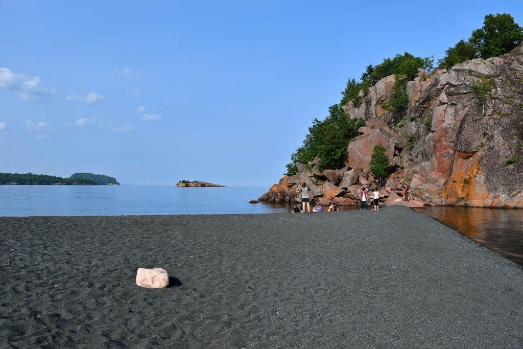 Black Beach on Lake Superior, Silver Bay MN