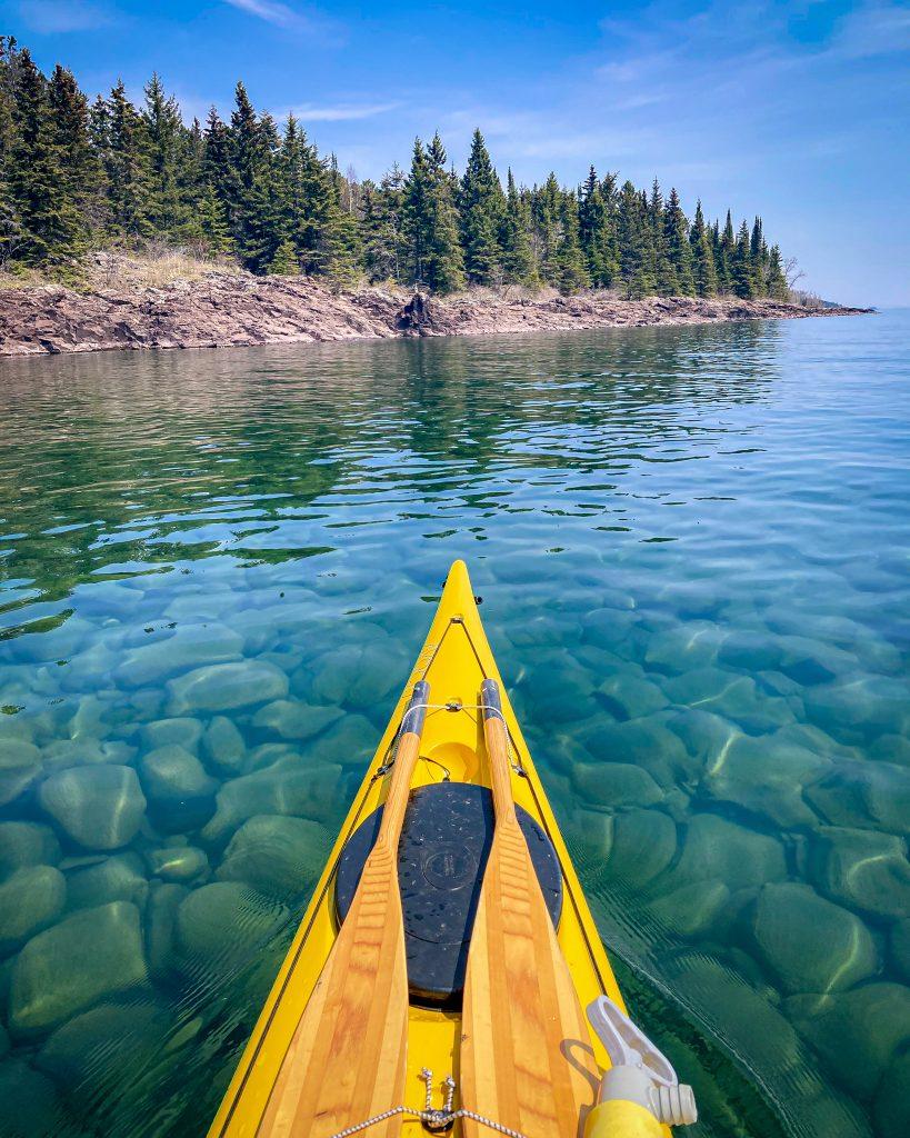 Kayaking around Grand Marais, North Shore MN