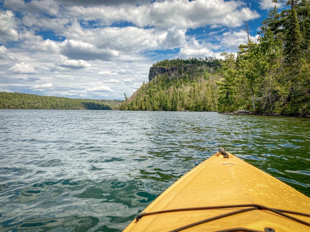kayaking on Clearwater Lake, Gunflint Trail Mn