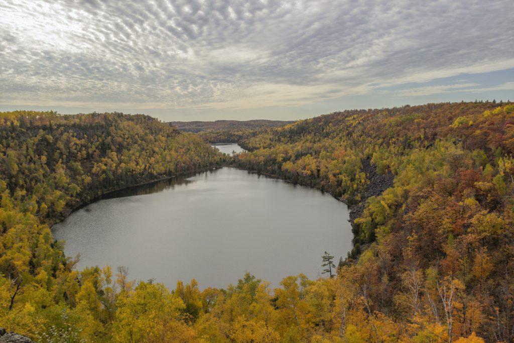 view of Bean and Bear Lakes